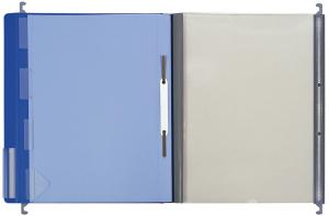 Doku-Sammelmappen mit 4‑tlg. Register, blau
