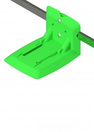 Geräteschienenhalter Spritzenabwurf Einschub grün