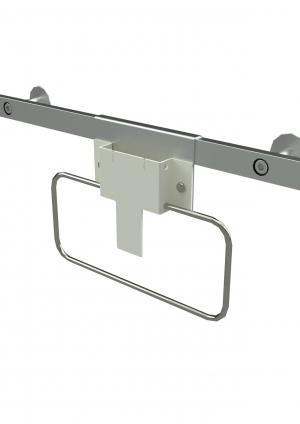 Geräteschienenhalter Spritzenabwurf rechteckig