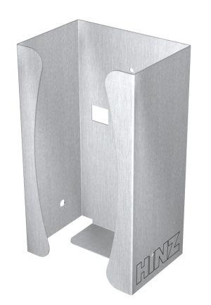 Handschuhbox Edelstahl für Wandmontage, pulverbeschichtet
