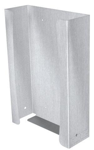 Handschuhbox Edelstahl 3‑fach für Wandmontage, pulverbeschichtet