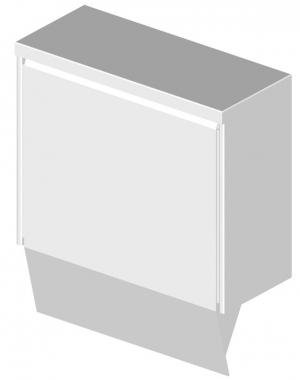 Müllbehälter Sanislide 15Liter pulverbeschichtet