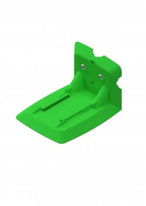 Wandhalter Spritzenabwurf Einschub grün