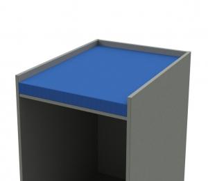 Wickeltischauflage königsblau
