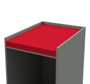 Wickeltischauflage rot