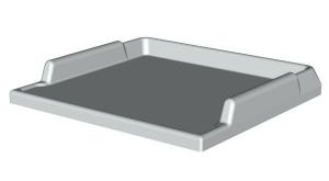 Arbeitsplatte Kunststoff-Top  ABS B/T 600/550