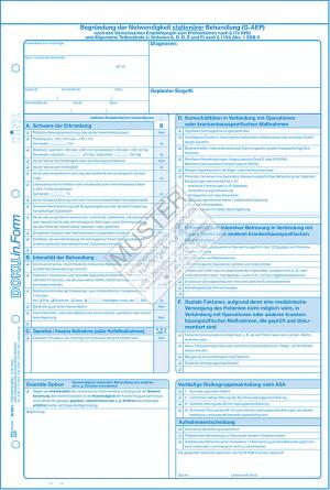 Begründung stationärer Behandlung (G-AEP)