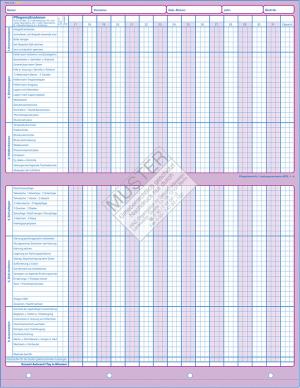 Pflegeübersicht / Leistungsnachweis AEDL1-6