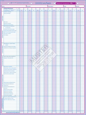 Pflegeübersicht / Leistungsnachweis AEDL7-13