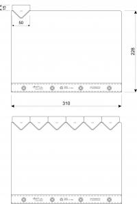 Klarsicht-Dauer-Register-Sätze, 6-teilig