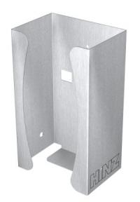 Handschuhbox Edelstahl für Geräteschiene, pulverbeschichtet