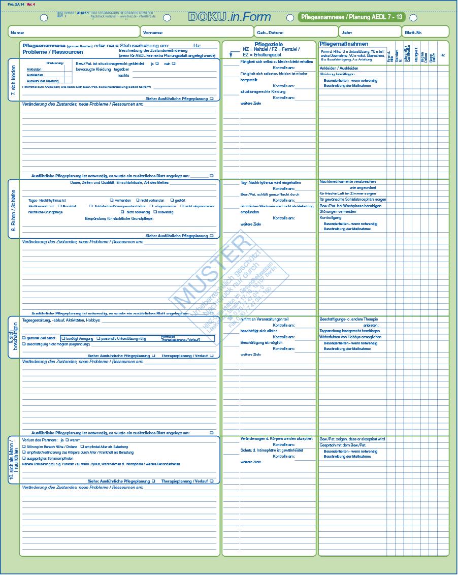 pflegeanamnese planung - Pflegeanamnese Muster